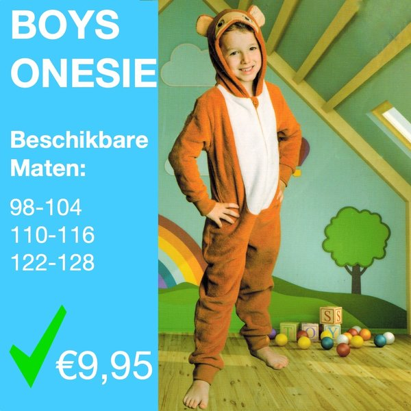 Boys shark onesie (98 t/m 128)