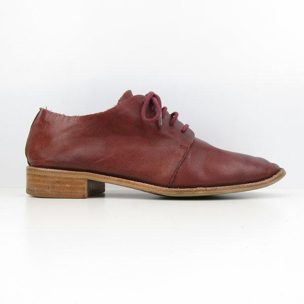 Wijnrode lage schoenen (39)