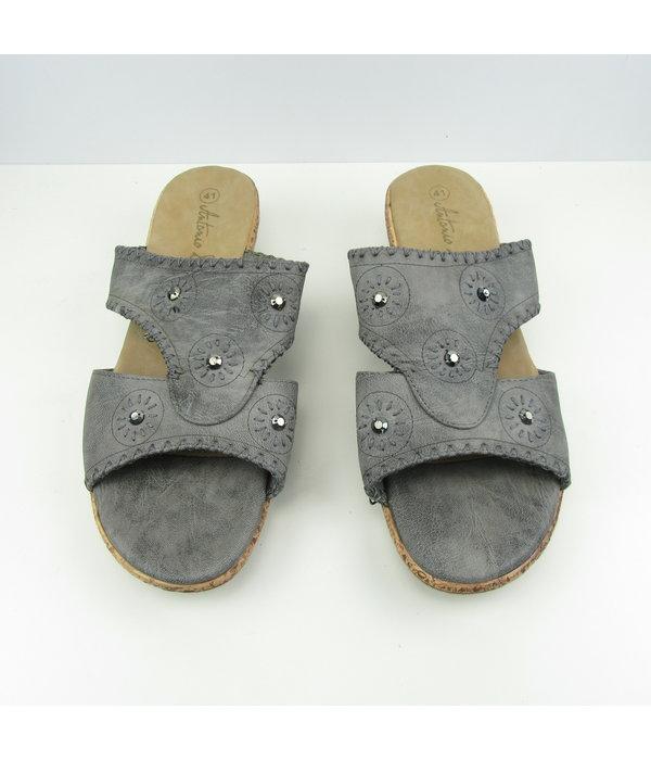 Tientje of minder Grijze open sandalen (41)