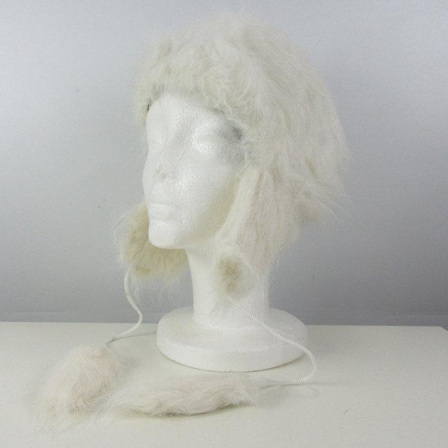 Warme witte muts (M / L)