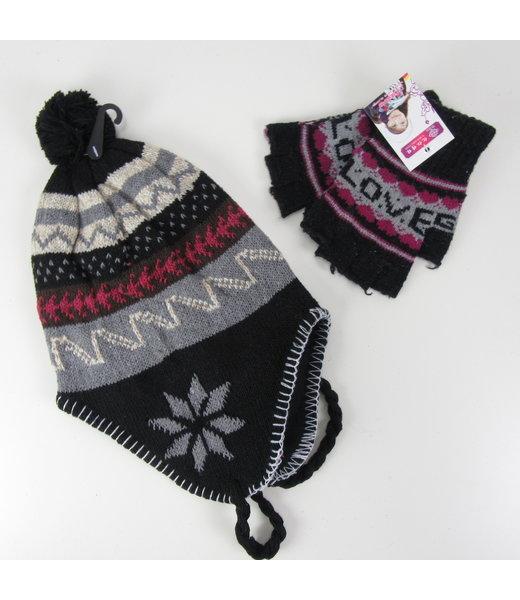 Warme muts met handschoenen (Onesize)