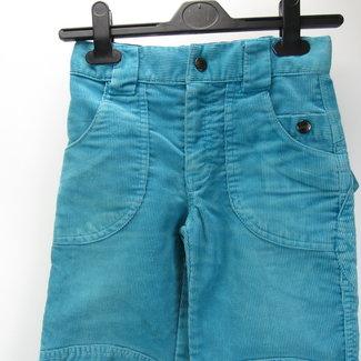 HEMA Blauw Geribde meisjes broek (128)