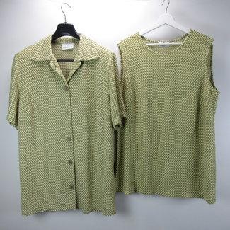Franken walder Vintage set top + overhemd (4XL)