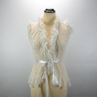 Witte vintage vest (S/M)