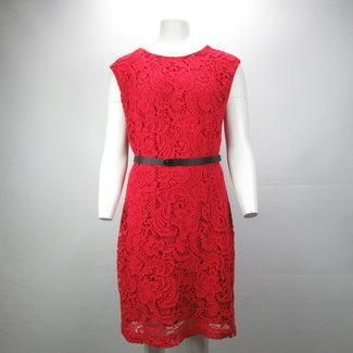 Mango Rode kanten jurk (L)