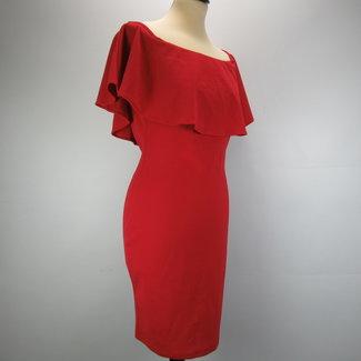 Vera & Lucy Red off-shoulder dress (M/L)