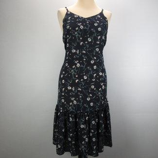 Donkerblauwe jurk (M)