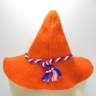 Oranje Tovenaarshoed Koningsdag (Onesize)