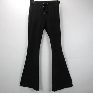 Bershka Zwarte flared jeans (S)