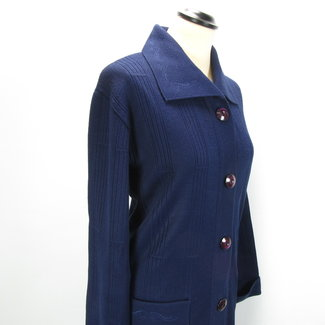 Milkara Donkerblauwe vintage jas (M)