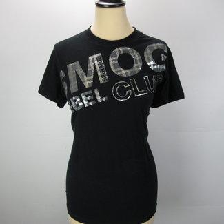 Smog Zwart shirt met glitter tekst (M)