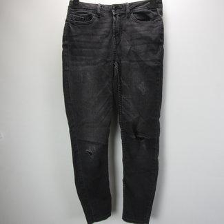 Jaqueline de Yong Donkergrijze skinny jeans met scheuren (W25/L30)
