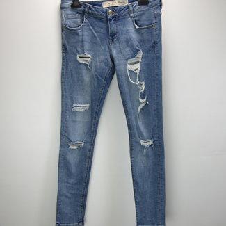 Denim Co Dames skinny jeans met scheuren (36)