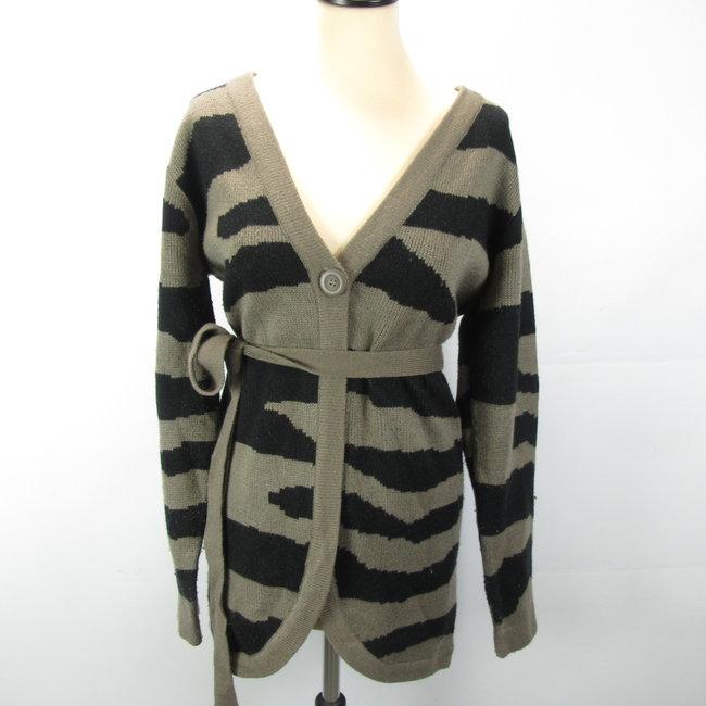 Prenatal Warme vest bruin/zwart (L)