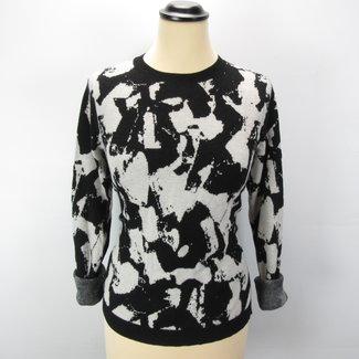 H&M Zwart witte trui met print (M)