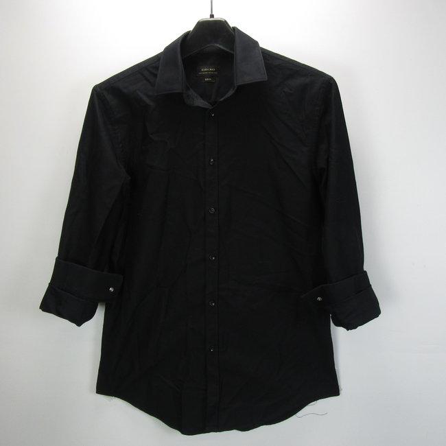 Zara Zwarte overhemd slim fit (L)