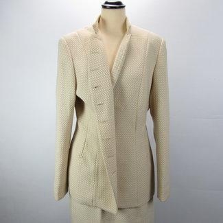 Emily Complete set blazer+rok Beige/zandgeel (L)
