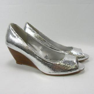 Shick Zilveren glitter sleehakken (39)