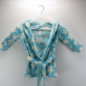 Baby badjas blauw met sterretjes (86/92)