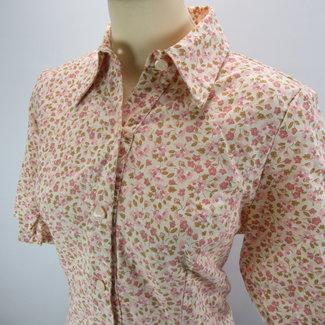Vintage Vintage blouse met schoudervulling (L)