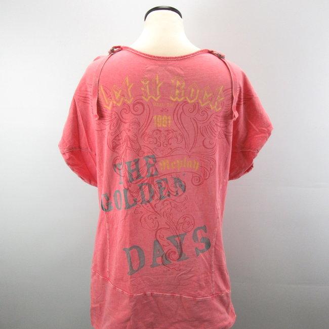 Replay Dames T-shirt verwassen look (XL)