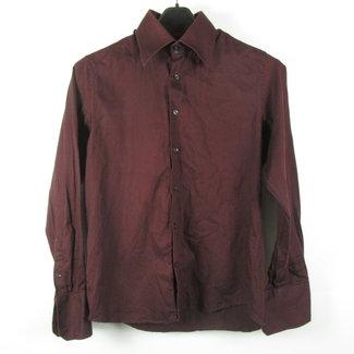 WE Bordeaux rode heren overhemd (M)