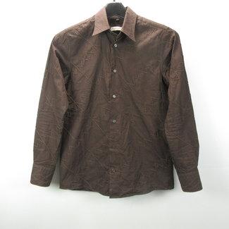 Angelo Litrico (C&A) Bruine heren overhemd (S)