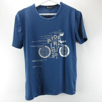 KXP Blauw heren shirt met print (M)