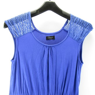 Yessica Blauwe jurk zonder mouwen (M)