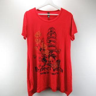 Yu Yuan Rood damesshirt met Toren van Pisa (44)