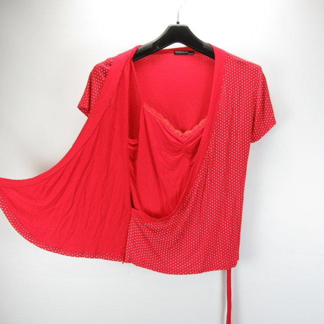Mabiller Gestippeld rode shirt (XL/XXL)