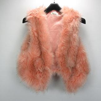 Miss Charm Paris Faux Fur Open  Vest (L/XL)