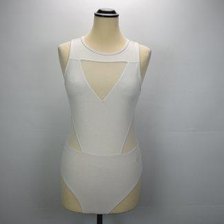 H&M Witte Katoenen Body (S)