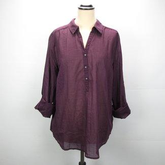 Yessica C&A Paarse Katoenen  Shirt (46)