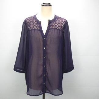 ONLY Doorzichtige paarse shirt  (42)