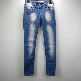 SD Jeans Denim skinny jeans met luipaard accent (36)
