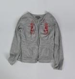 NO-NO Grijs open vest (134/140)
