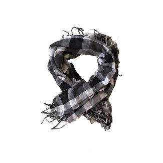 Tientjes Grijzig geruit lichte sjaal