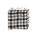 Tientje of minder Grijzig geruit lichte sjaal