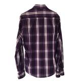 WE Fashion Paars geruit overhemd (S)