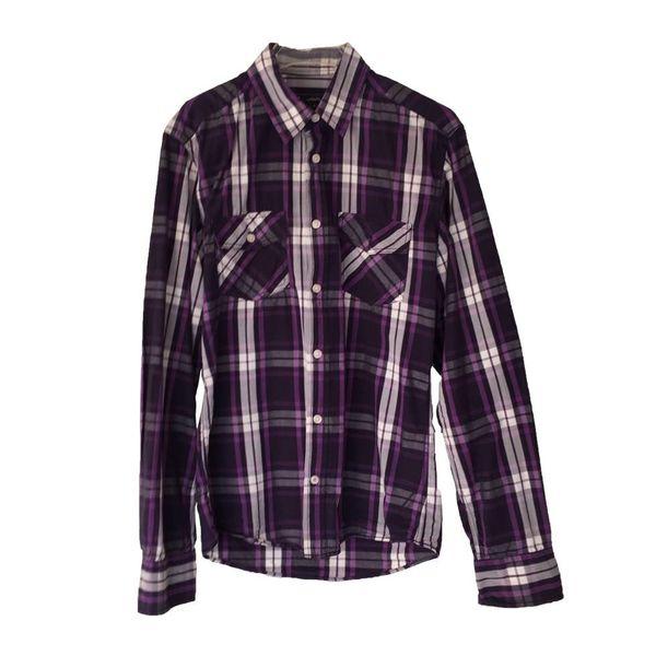 Geruit overhemd (S)