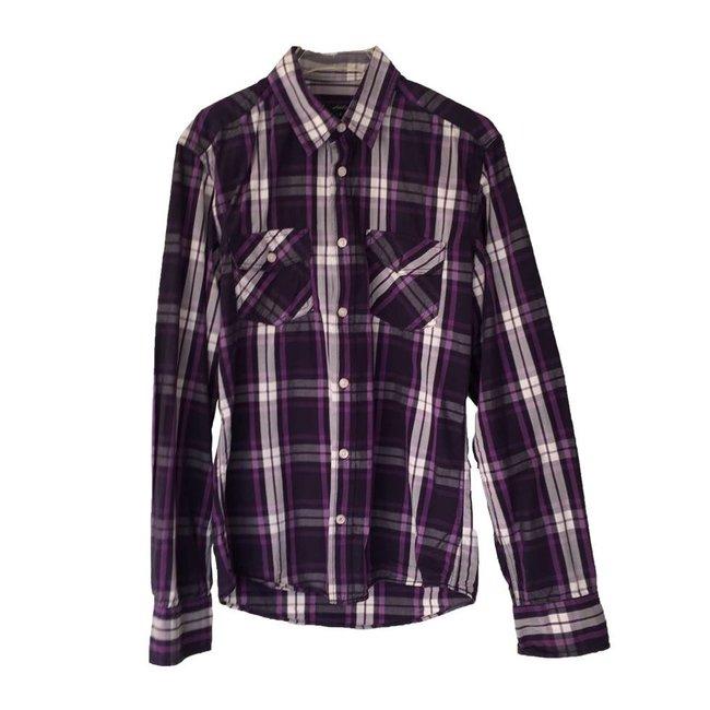 WE Fashion Geruit overhemd (S)