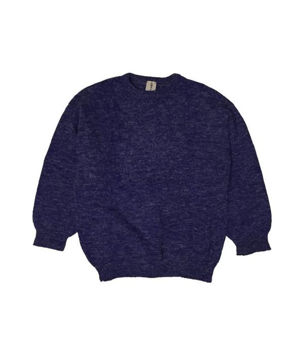 Tientje of minder Blauwe wollen trui (50)