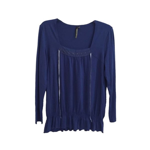Blauwe blouse (XL)