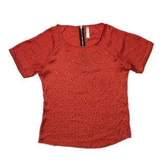 Tientjes Rode polyester blouse (L)