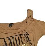 Tientje of minder Bruin/Beige shirt (XS)