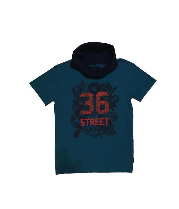 Tientje of minder Long neck T-shirt (140)