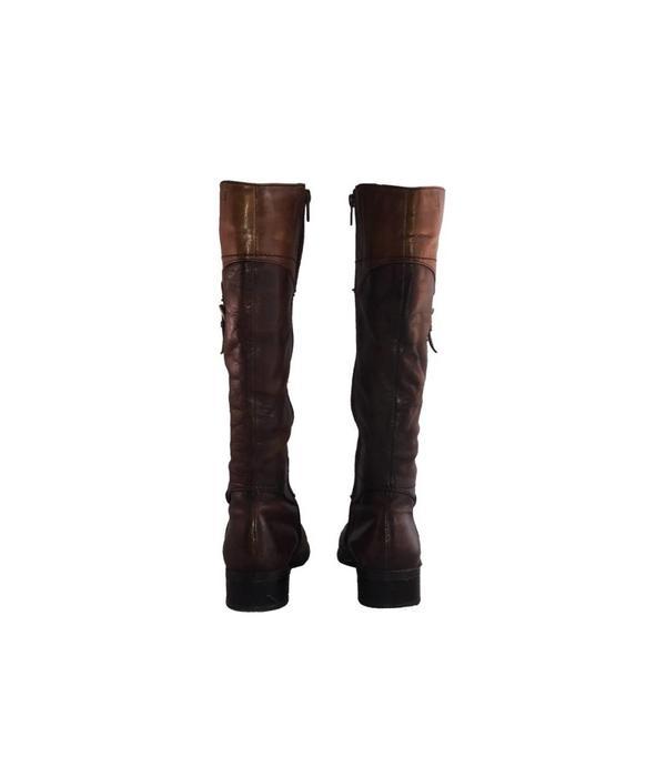 Tientje of minder Bruine leren laarzen (41)
