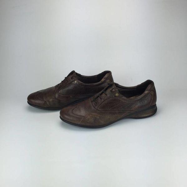 Bruine lederen Ecco sneakers (42)