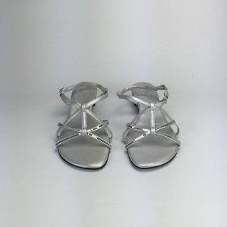 Tientjes Zilvergrijze sandaaltjes (38)